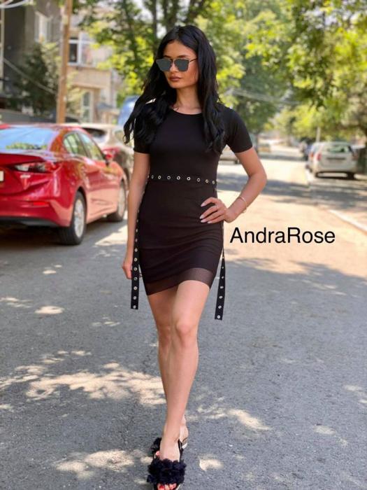 Rochie plasa BLACK 0