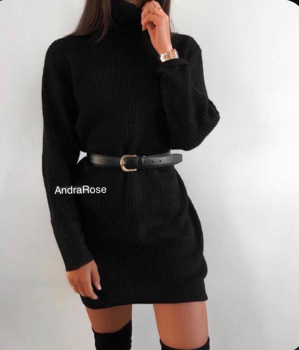 Rochie-pulover negru MELISSA [0]