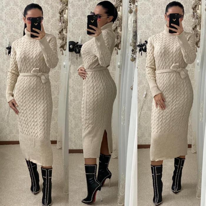 Rochie tricot crem MELANIE [1]
