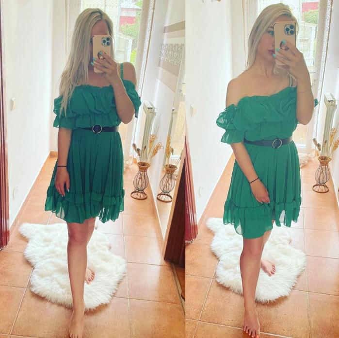 Rochie verde MARCY [0]
