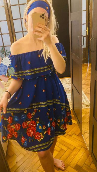 Rochie volanase BLUE 0