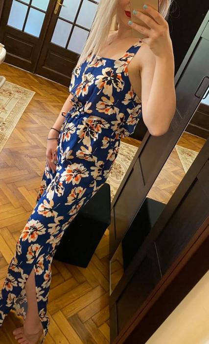 Salopeta albastru-floral AND 1