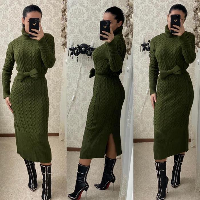 Rochie tricot MELANIE - VERDE 0