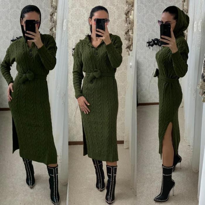 Rochie tricot MELANIE - VERDE 1