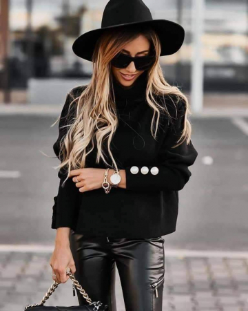 Bluza neagra BIA1