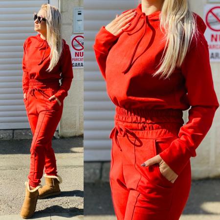 Compleu velvet Red0