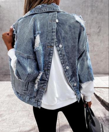 Geaca Jeans V - Albastru1