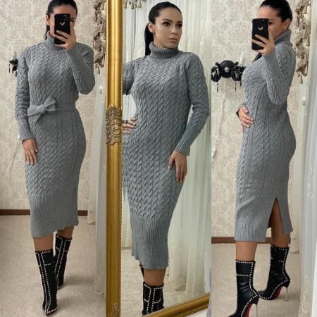 Rochie tricot MELANIE - GRI0