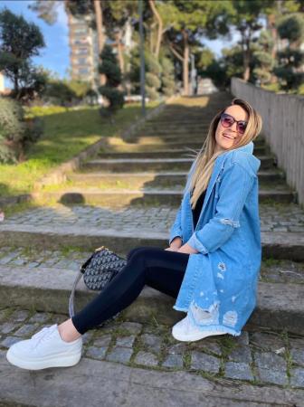 Jacheta Jeans Mimi - Albastru [1]
