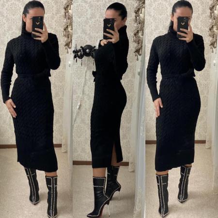 Rochie tricot MELANIE - NEGRU [0]