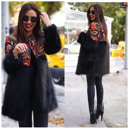 Palton negru AMI0
