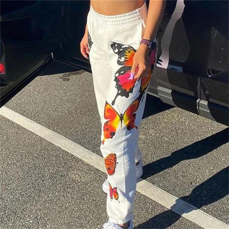 Pantaloni Butterfly - Alb [0]