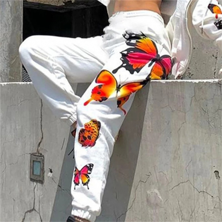 Pantaloni Butterfly - Alb [2]
