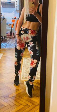 Pantaloni FLOWERS2