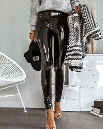 Pantaloni latex EVA-NEGRU [4]