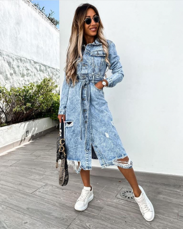 Rochie Jeans BLUE0