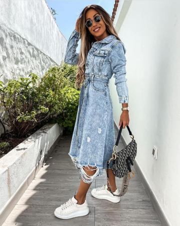 Rochie Jeans BLUE1
