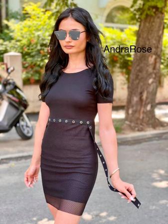 Rochie plasa BLACK1
