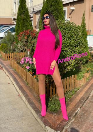 Rochie-pulover roz MELISSA [4]