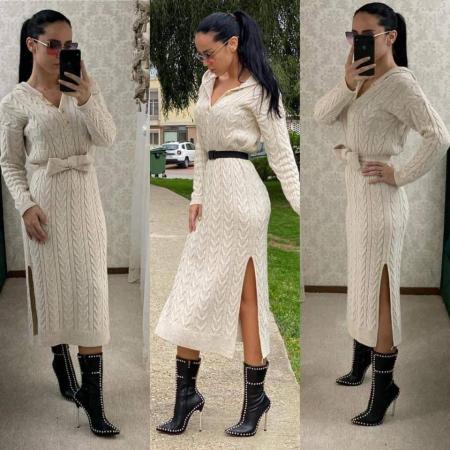 Rochie tricot crem MELANIE [0]