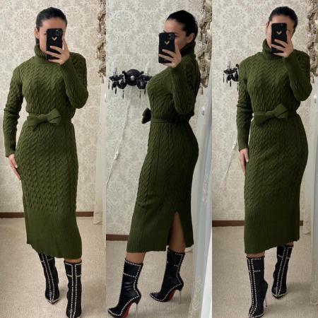 Rochie tricot MELANIE - VERDE0