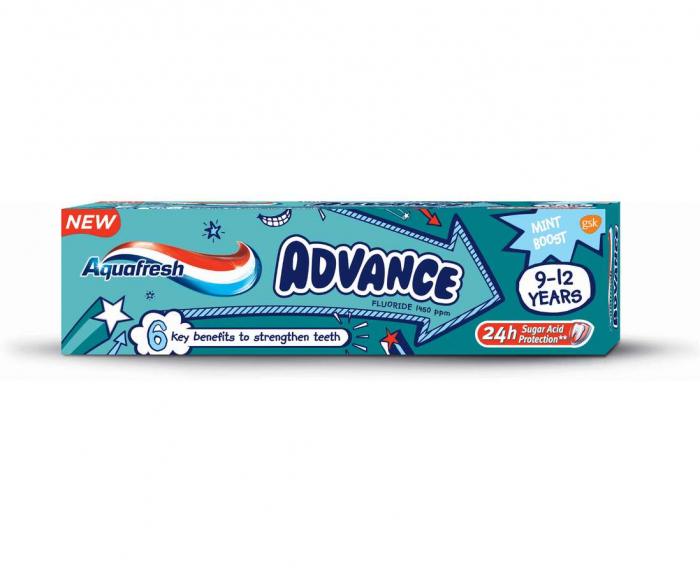 Pasta Dinti Aquafresh Advance 9-12 ani 75ml [0]