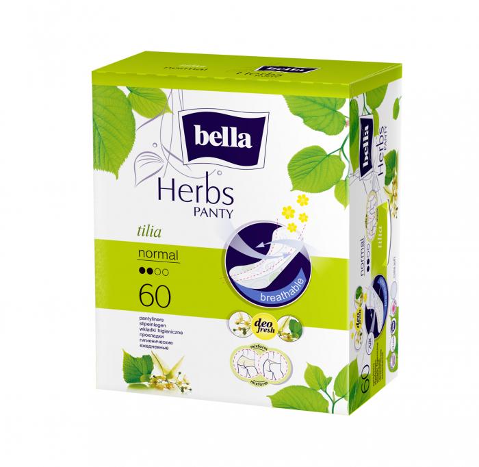 Absorbante Bella Herbs Panty Floare de Tei 60 buc. [0]