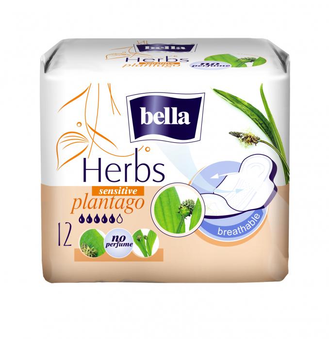 Absorbante Bella Herbs Sensitive Plantago 12 buc. [0]