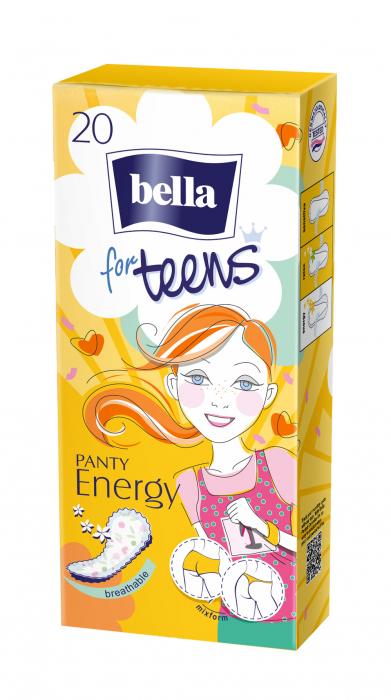 Absorbante Bella Zilnice Subtiri For Teens Panty Energy 20 buc. [0]