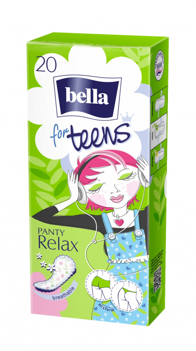 Absorbante Bella Zilnice Subtiri For Teens Panty Relax 20 buc. [0]