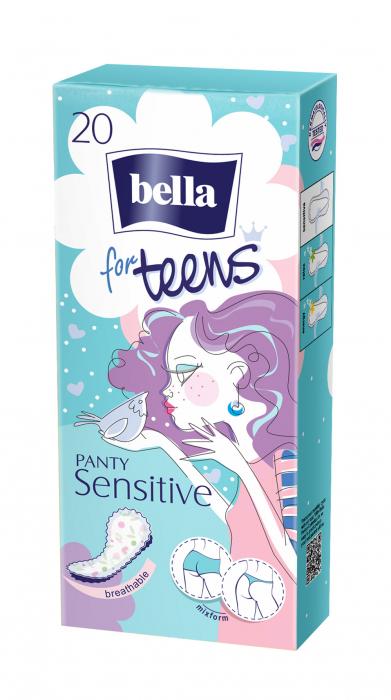 Absorbante Bella Zilnice Subtiri For Teens Panty Sensitive 20 buc. [0]
