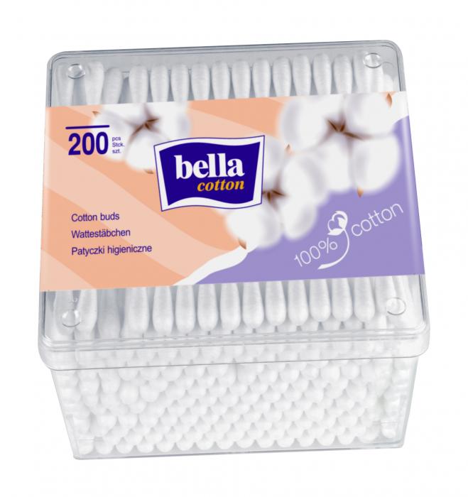 Betisoare Bella Igienice Cutie Patrata 200 buc. [0]