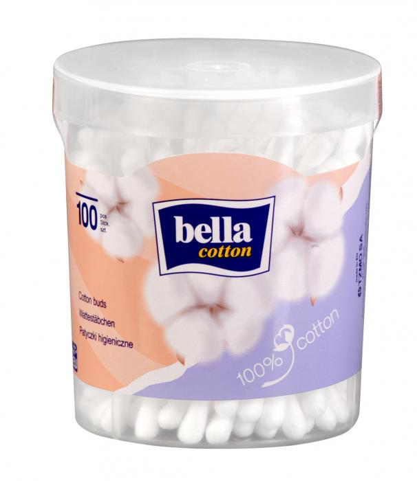 Betisoare Bella Igienice Cutie Rotunda 100 buc. [0]