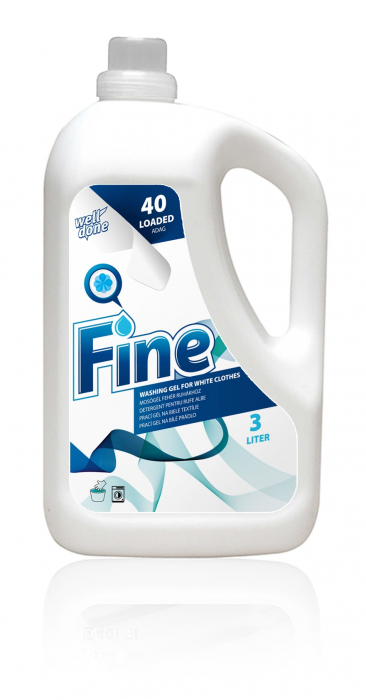 Detergent Lichid Well Done Tesaturi Albe Soft'n Gel 3000 ml [0]