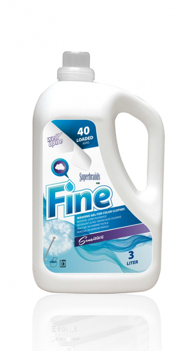 Detergent Lichid Well Done Tesaturi Colorate Soft'n Gel 3000 ml [0]