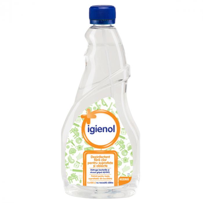 Dezinfectant Rezerva Igienol Fara Clor Pentru Bucatarie Clear 750 ml [0]