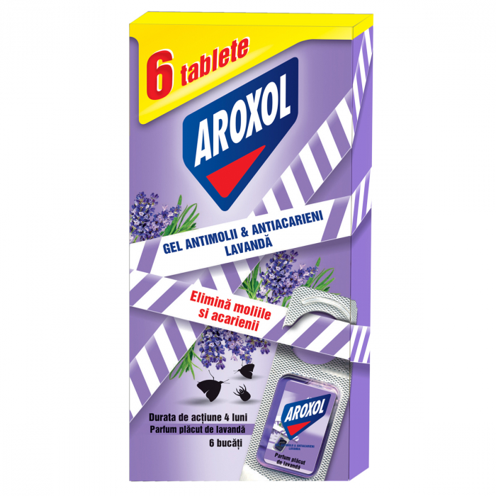 Gel Aroxol Anti-molii Lavanda 6 buc. [0]