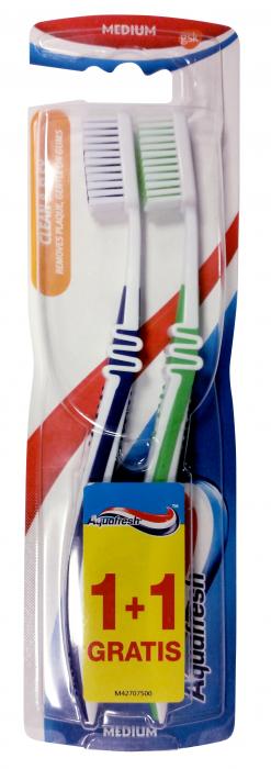 Perie De Dinti Aquafresh Clean & Flex Medium 1+1 Gratis [0]