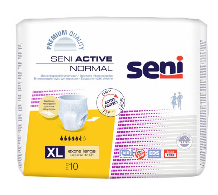 Scutece Adulti Seni Active Normal Chilot Extra Large 10 buc. [0]