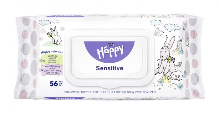 Servetele Umede Happy Sensitive 56 buc. [0]