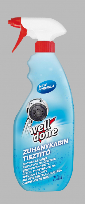 Solutie Well Done Pentru Curatarea Cabinei De Dus 750 ml [0]
