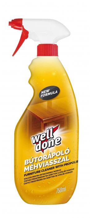 Solutie Well Done Protejare & Curatare Mobila 750 ml [0]