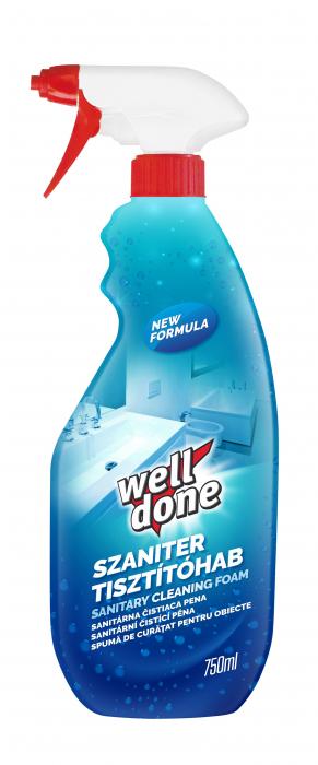 Spuma Well Done Pentru Curatarea Obiectelor Sanitare 750 ml [0]