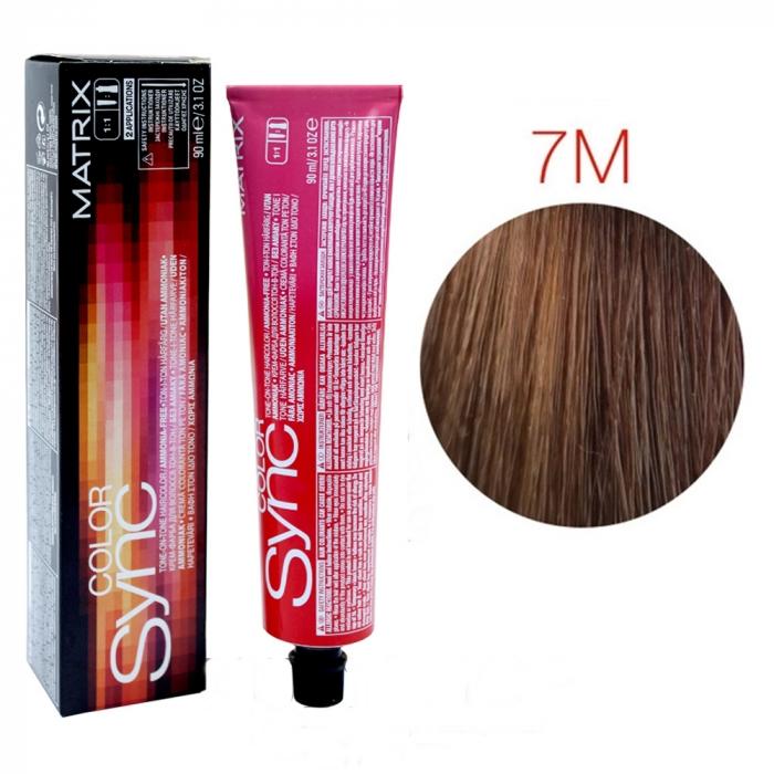 Vopsea Matrix Color Sync 7M Blond Mediu Moca 90 ml [0]