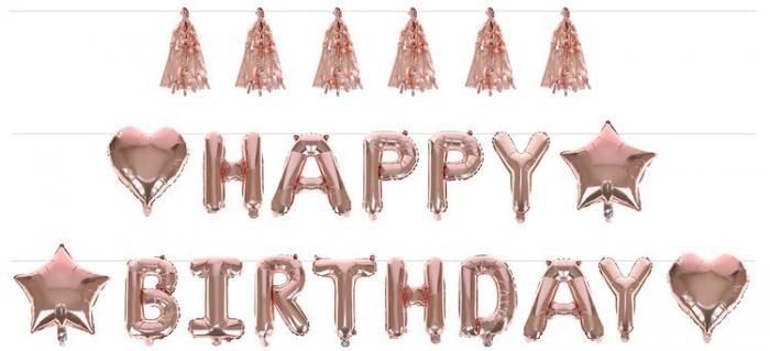 Accesorii ziua de nastere - Set - Happy Birthday, Balon Petrecere de aniversare [6]