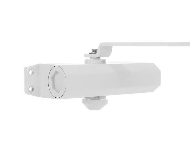 Amortizor hidraulic pentru usa, 40-60 kg,reglare dubla aluminiu alb [2]