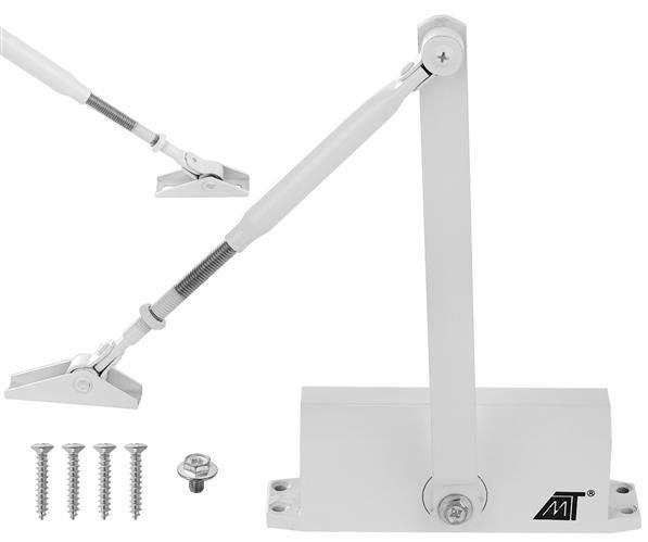 Amortizor hidraulic pentru usa, 40-60 kg,reglare dubla aluminiu alb [0]