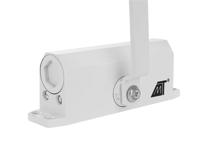 Amortizor hidraulic pentru usa, 40-60 kg,reglare dubla aluminiu alb [6]