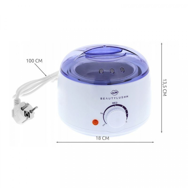 Aparat pentru incalzit ceara de epilare 100W temperatura reglabila 400ml  indicator LED  BeautyLushh 3