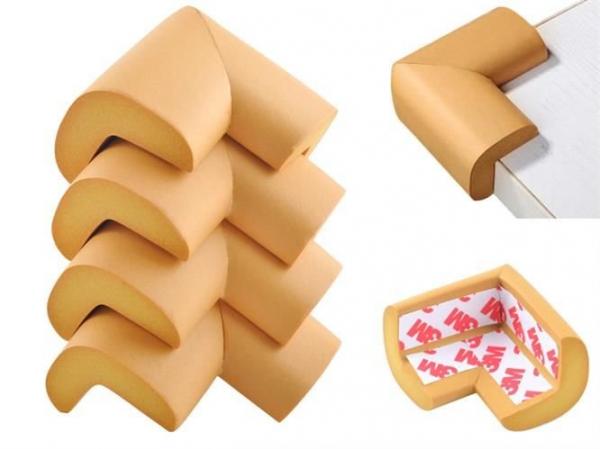 Aparatori moi pentru colturi masa forma L camera copilului,culoare maro set/4buc 0